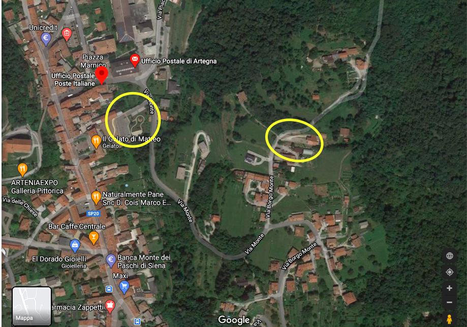 Mappa parcheggio Monte Faeit