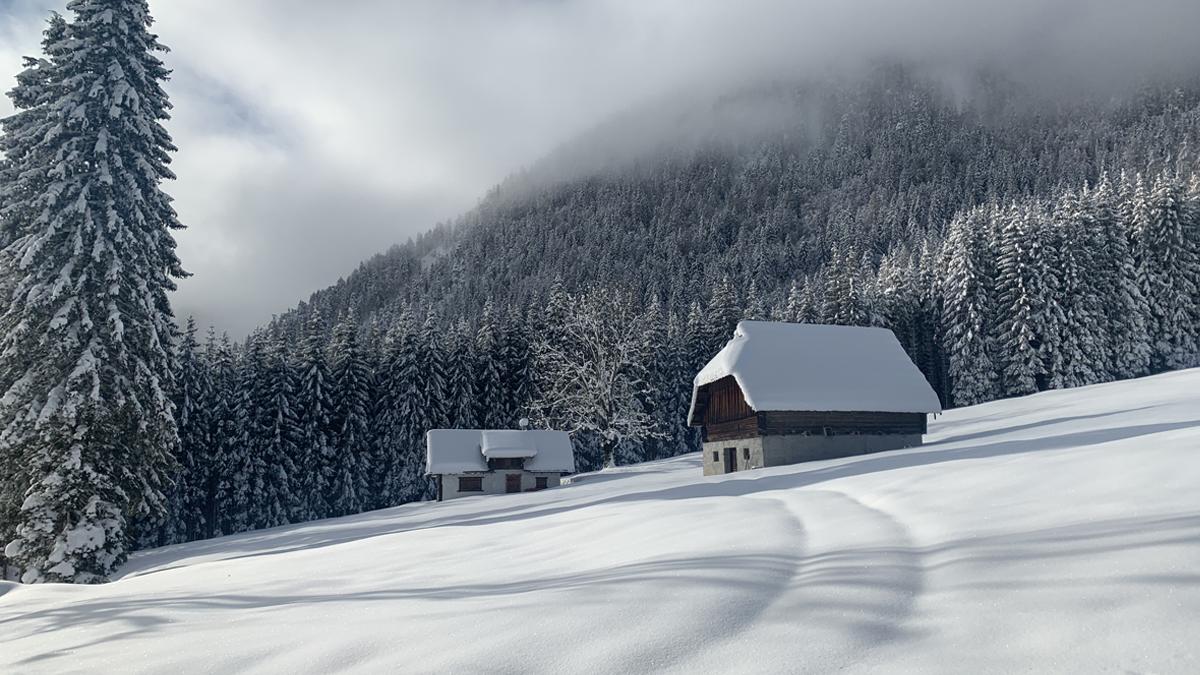 Mountain Huts in Val Bartolo, Friuli-Venezia Giulia, Italy
