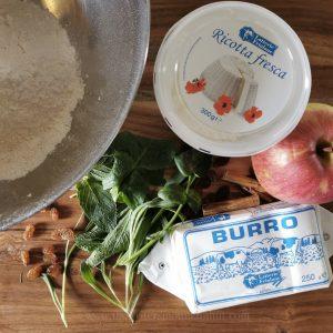 Cjarsons Ingredients. Ravioli from Friuli-Venezia Giulia, Italy